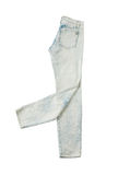 Krawata barwidła bielu cajgi Fotografia Royalty Free