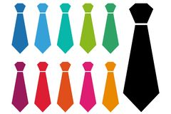 Wiąże, tekstylna odzież, krawat dla mężczyzna, cravate symbol, ubraniowa rzecz, cravate dla mężczyzna, mody akcesorium, krawata l ilustracja wektor