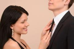 Wiązać jego krawat Zdjęcie Royalty Free