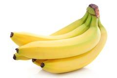 wiązek bananowe owoc odizolowywali dojrzałego Obraz Stock
