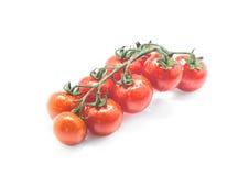Wiązka świeży czereśniowy tomatol na białym tle Zdjęcia Royalty Free