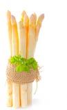 Wiązka asparagus z pietruszką Zdjęcia Stock