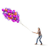 Wiązka balony Zdjęcie Royalty Free