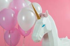Wiązka balony partyjną jednorożec obrazy royalty free