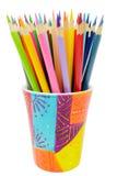 Wiązka barwioni ołówki Obraz Stock