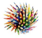 Wiązka barwioni ołówki Fotografia Stock