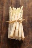 Wiązka biały asparagus Zdjęcie Royalty Free