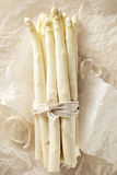 Wiązka biały asparagus Obraz Royalty Free