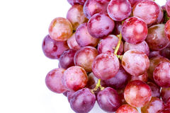Wiązka czerwony winogrono na białym tle Fotografia Stock