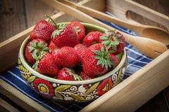 Wiązka dojrzały strawberrie Zdjęcia Royalty Free