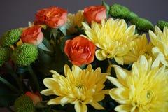Wiązka jesień kwitnie z chryzantemami obraz royalty free