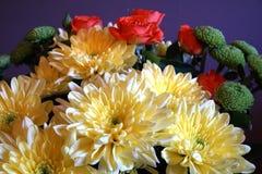 Wiązka jesień kwitnie z chryzantemami obrazy stock