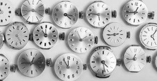 Wiązka kieszeniowego zegarka clockworks w czarny i biały Zdjęcie Stock