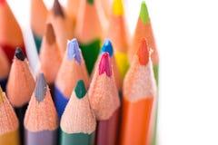 Wiązka kolorów ołówki na bielu Zdjęcia Stock