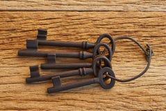 Wiązka pięć kluczy fotografia stock
