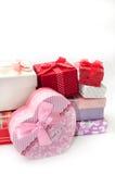 WIĄZKA prezenta pudełek miłości URODZINOWY romans Obraz Stock