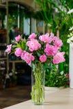 Wiązka różowe peonie zdjęcie stock