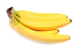 Wiązka soczyści i surowi kolorowi banany, odizolowywająca na białym tle Egzota, tropikalnego, słodkiego i soczystego pojęcie, wit Zdjęcia Royalty Free