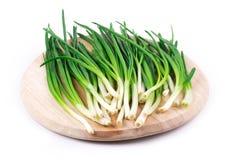 Wiązka zielona cebula Zdjęcie Stock