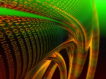 wiązki binarna pomarańczę danych Fotografia Stock