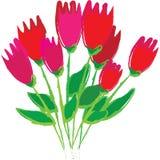 wiązki gogh przełazu tulipanów samochód dostawczy ilustracji