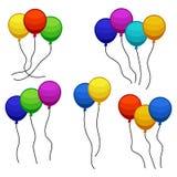 Wiązki kilka colour helu balony ilustracji