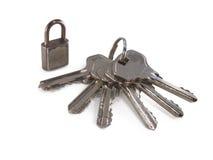 wiązki kluczy kłódka Fotografia Stock