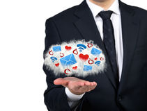 wiązki komunikacyjne pojęcia rozmowy ma środki zaludniają socjalny Obraz Stock