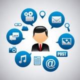 wiązki komunikacyjne pojęcia rozmowy ma środki zaludniają socjalny Obrazy Royalty Free