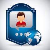 wiązki komunikacyjne pojęcia rozmowy ma środki zaludniają socjalny Obraz Royalty Free