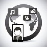 wiązki komunikacyjne pojęcia rozmowy ma środki zaludniają socjalny Zdjęcie Stock