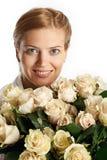 wiązki róż kobiety potomstwa Obrazy Stock