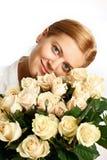 wiązki róż kobiety potomstwa Zdjęcie Stock