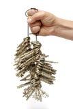 wiązki ręki mienia klucze Obraz Royalty Free