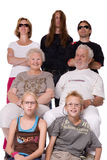 wiązki szalony rodzinny portreta studio Zdjęcia Royalty Free