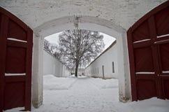 Więźniarski jard. zdjęcie stock