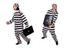 Więźniarski więzień odizolowywający na białym tle Zdjęcia Stock