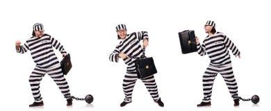 Więźniarski więzień odizolowywający na białym tle Fotografia Stock