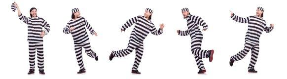 Więźniarski więzień odizolowywający na białym tle Fotografia Royalty Free