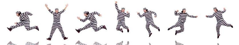 Więźniarski więzień odizolowywający na białym tle Obrazy Stock