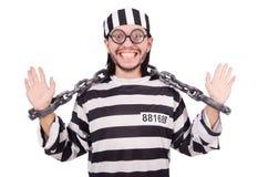 Więźniarski więzień odizolowywający na białym tle Zdjęcia Royalty Free