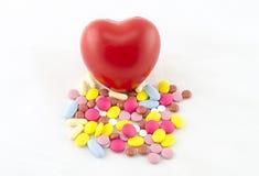 Więcej leki uszkadzają serce Zdjęcia Royalty Free