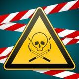 więcej mojego portfolio znak podpisuje ostrzeżenie śmiertelnych zwłoki prowadzeń dymny dymienie Ostrożność - niebezpieczeństwo śc royalty ilustracja