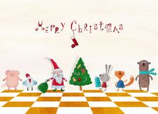 więcej toreb, Świąt oszronieją Klaus Santa niebo Zdjęcie Stock