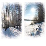 więcej toreb, Świąt oszronieją Klaus Santa niebo Piękny krajobraz Zima słoneczny dzień Obrazy Royalty Free