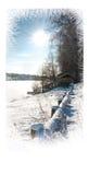 więcej toreb, Świąt oszronieją Klaus Santa niebo Piękny zimy landscape Zdjęcie Stock