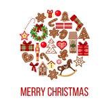 więcej toreb, Świąt oszronieją Klaus Santa niebo postacie na bauble kształcie Wizerunki dla bożych narodzeń 2017 i nowego roku Fotografia Stock