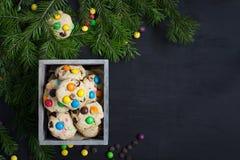 więcej toreb, Świąt oszronieją Klaus Santa niebo Przestrzeń dla teksta Obrazy Stock
