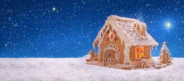 więcej toreb, Świąt oszronieją Klaus Santa niebo Wakacyjny Piernikowy dom Fotografia Royalty Free