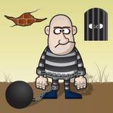 więzień ilustracja wektor